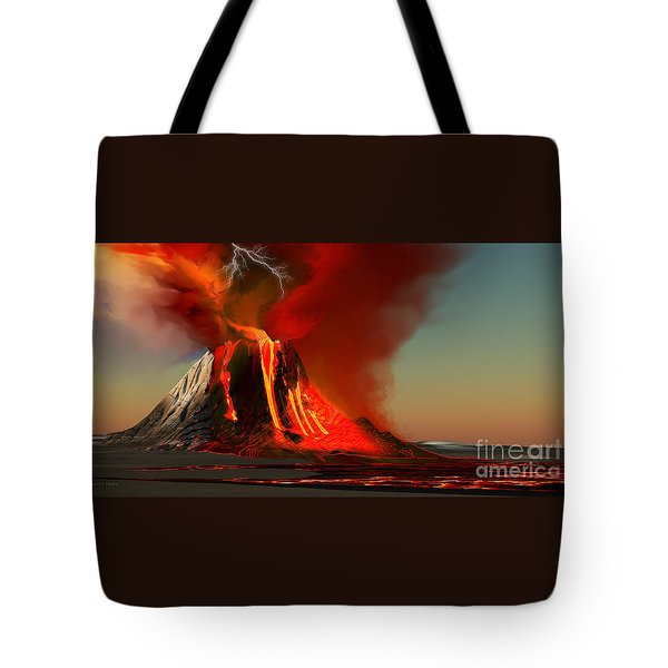 Hawaii Volcano Tote Bag by Corey Ford