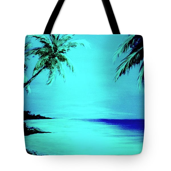 Hawaiian Beach Art Painting #188 Tote Bag by Donald k Hall
