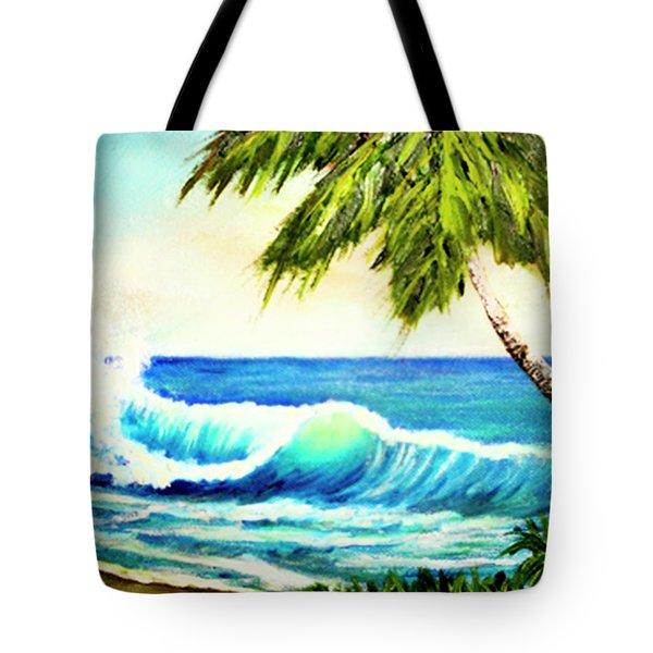 Hawaiian Beach Wave #420 Tote Bag by Donald k Hall