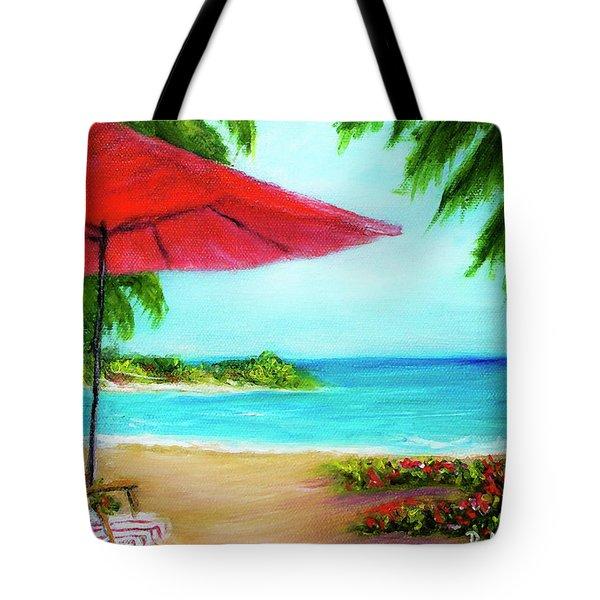 Hawaiian Beach Wave Art Print Painting #441 Tote Bag by Donald k Hall