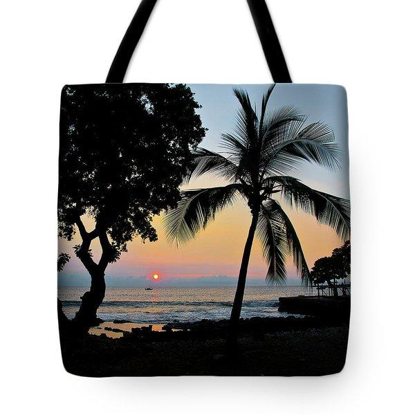 Hawaiian Big Island Sunset  Kailua Kona  Big Island  Hawaii Tote Bag