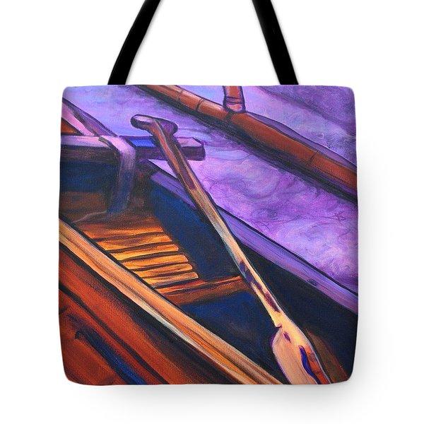 Hawaiian Canoe Tote Bag by Marionette Taboniar