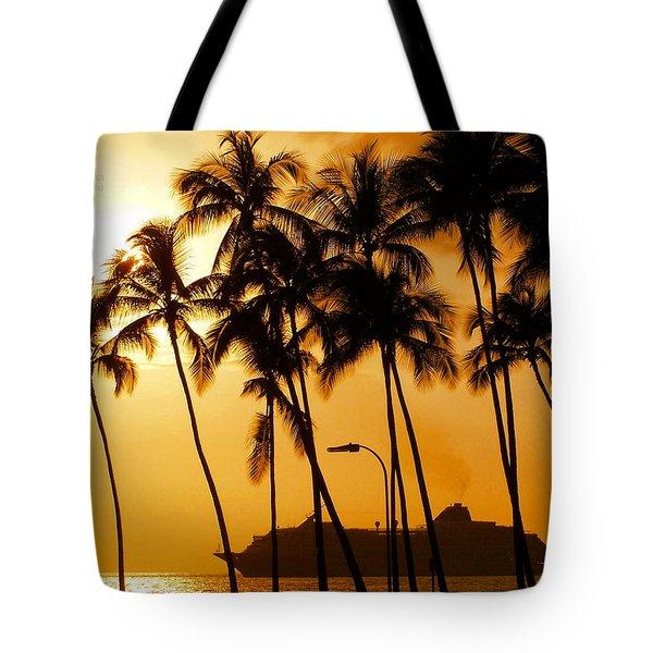 Hawaiian  Cruise Tote Bag by Athala Carole Bruckner