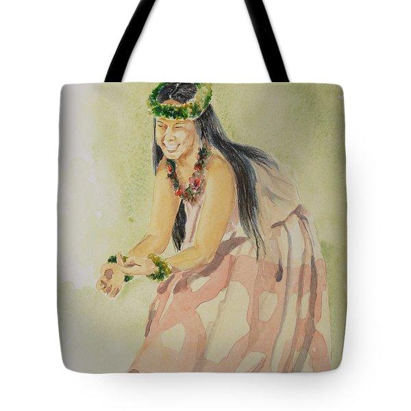 Hawaiian Dancer Tote Bag