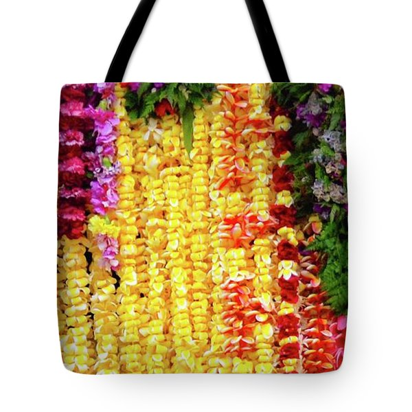 Hawaiian Flower Lei's Tote Bag