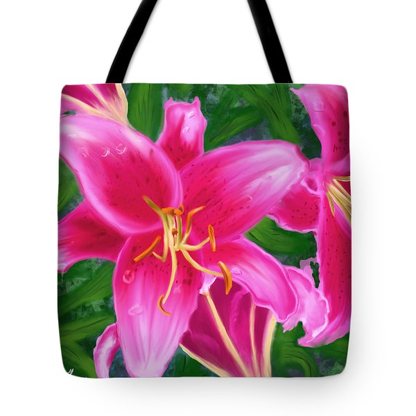 Hawaiian Flowers Tote Bag