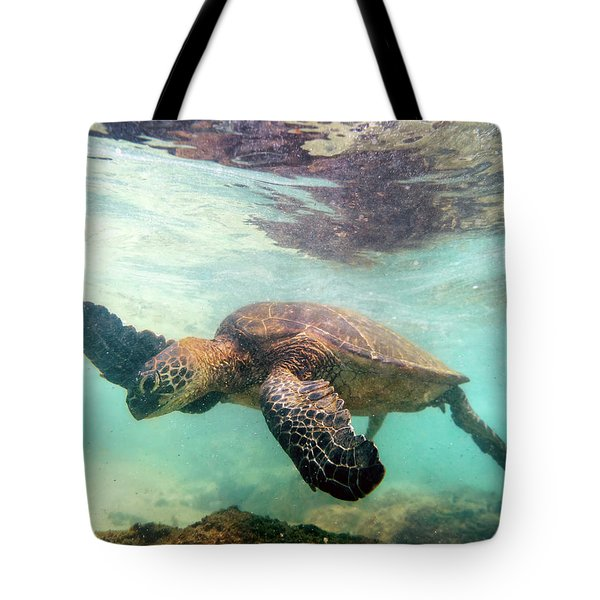 Hawaiian Green Sea Turtle Tote Bag