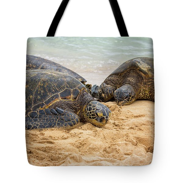 Hawaiian Green Sea Turtles 1 - Oahu Hawaii Tote Bag