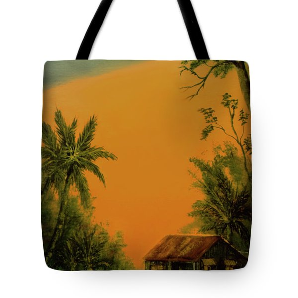 Hawaiian Homestead Sunset #05 Tote Bag by Donald k Hall
