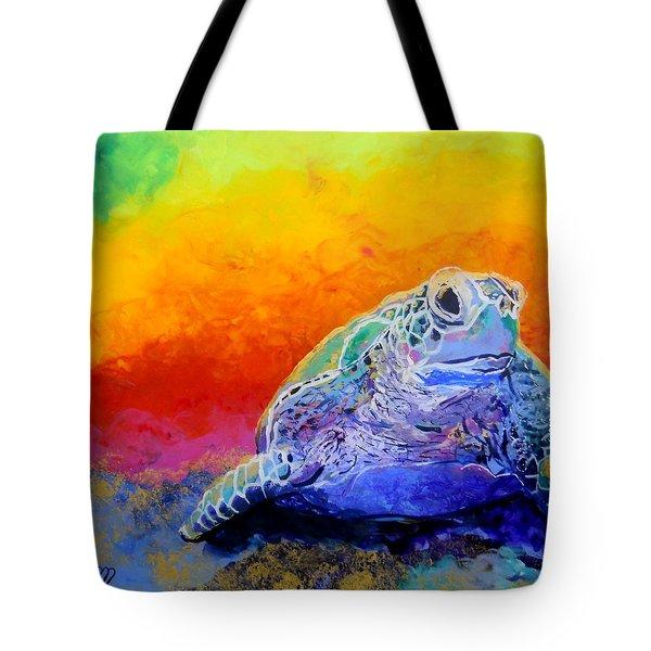 Hawaiian Honu 4 Tote Bag