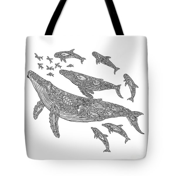 Hawaiian Humpbacks Tote Bag by Carol Lynne