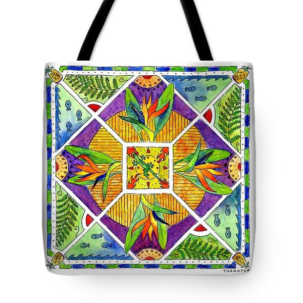 Hawaiian Mandala II - Bird Of Paradise Tote Bag