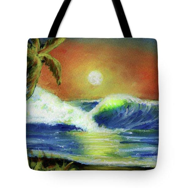 Hawaiian Moon #399 Tote Bag by Donald k Hall