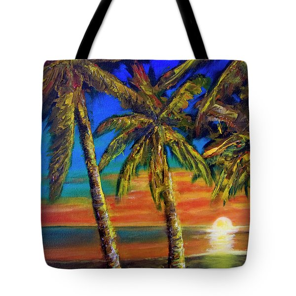 Hawaiian Moon #404 Tote Bag by Donald k Hall