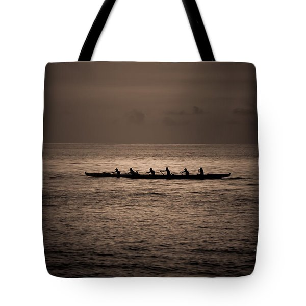 Tote Bag featuring the photograph Hawaiian Outrigger by Kelly Wade