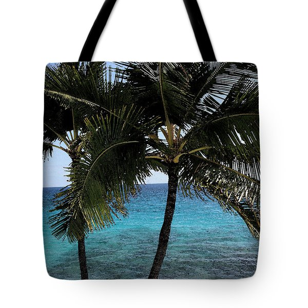 Hawaiian Palm Trees - All Images Copyright Karen L. Nicholson Tote Bag by Karen Nicholson