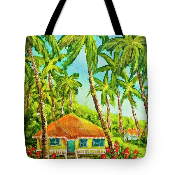 Hawaiian Plantation Home #390 Tote Bag by Donald k Hall