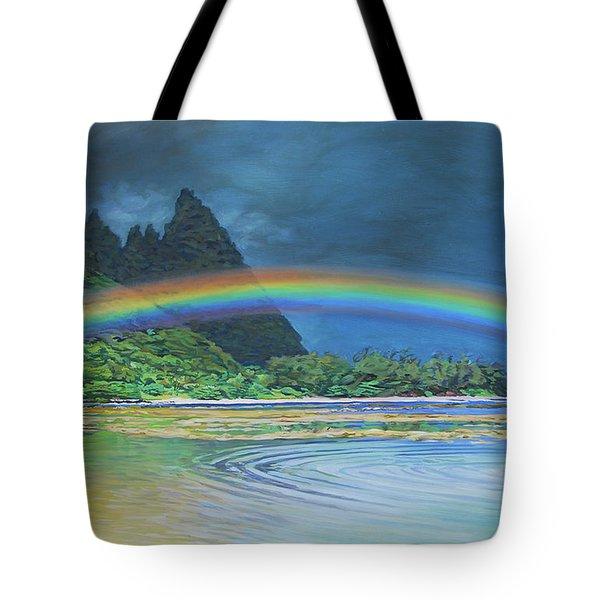 Hawaiian Rainbow Tote Bag