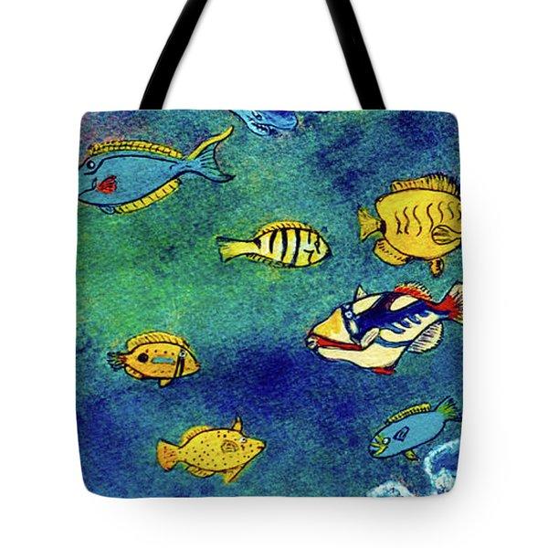Hawaiian Reef  Fish #223 Tote Bag by Donald k Hall