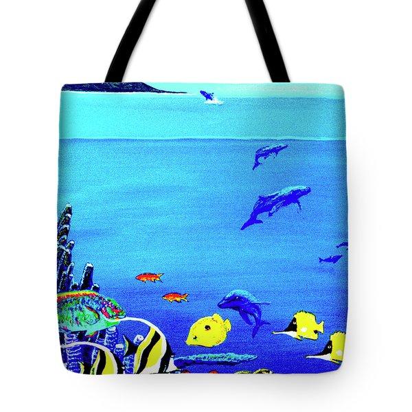 Hawaiian Reef Fish Nimo #193 Tote Bag by Donald k Hall