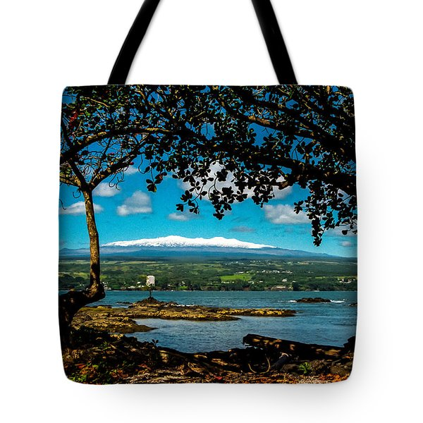 Tote Bag featuring the photograph Hawaiian Snow by Randy Sylvia