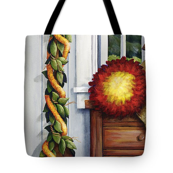 Hawaiian Still Life Panel Tote Bag by Sandra Blazel - Printscapes