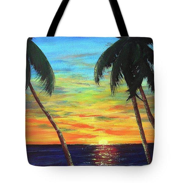 Hawaiian Sunset #340 Tote Bag by Donald k Hall