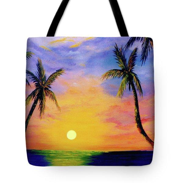 Hawaiian Sunset #36 Tote Bag by Donald k Hall