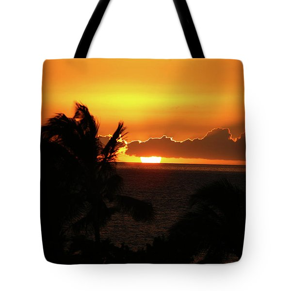 Tote Bag featuring the photograph Hawaiian Sunset by Anthony Jones