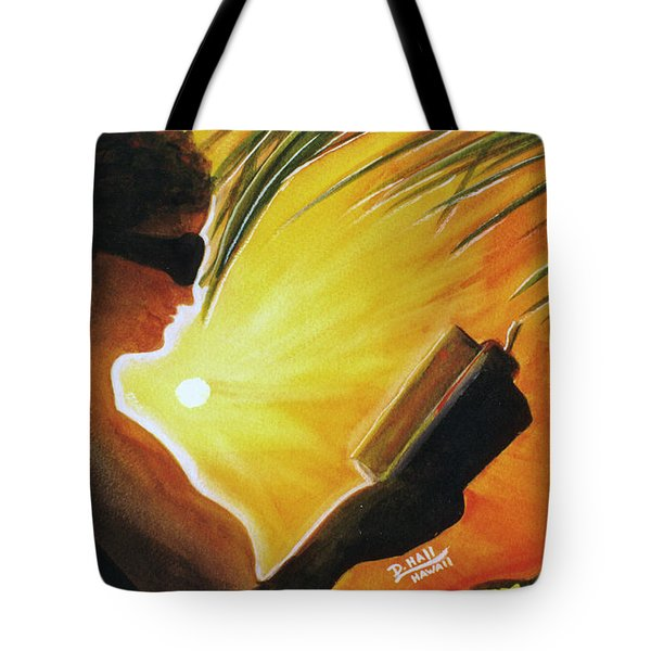 Hawaiian Sunset Catching The Last Rays #132 Tote Bag by Donald k Hall