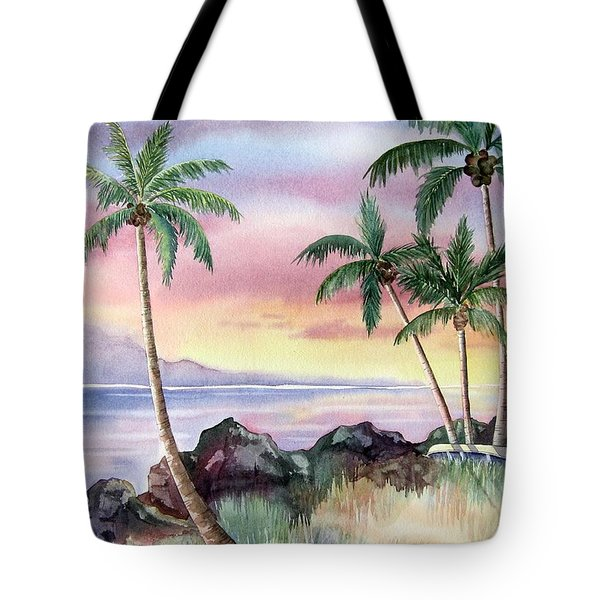 Hawaiian Sunset Tote Bag by Deborah Ronglien