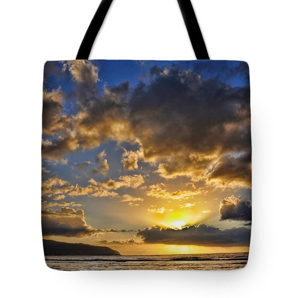 Tote Bag featuring the photograph Hawaiian Sunset by Gina Savage