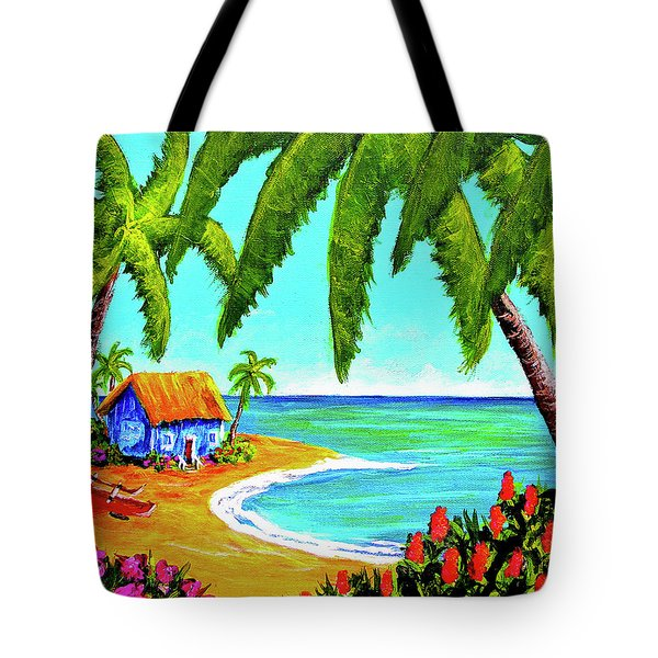 Hawaiian Tropical Beach  #364 Tote Bag by Donald k Hall