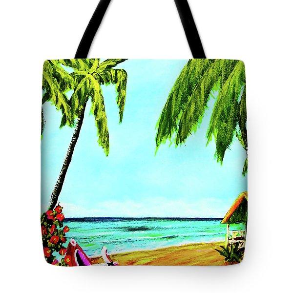 Hawaiian Tropical Beach #367  Tote Bag by Donald k Hall