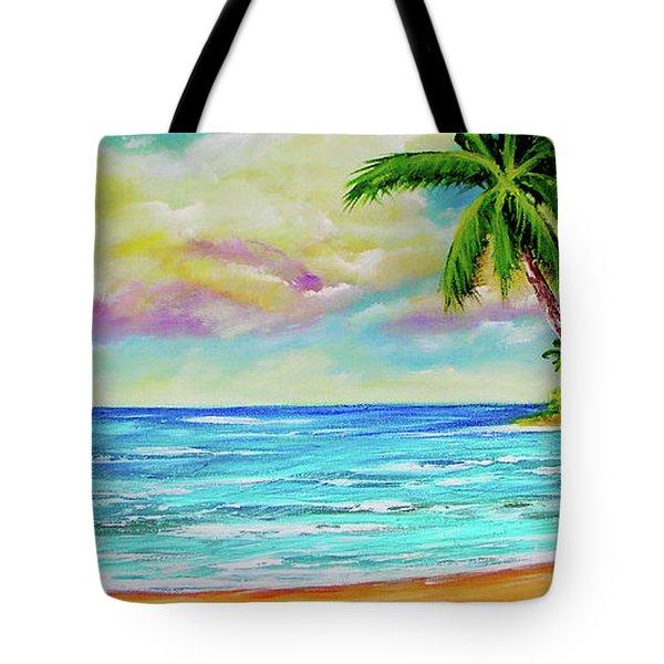 Hawaiian Tropical Beach #408 Tote Bag by Donald k Hall
