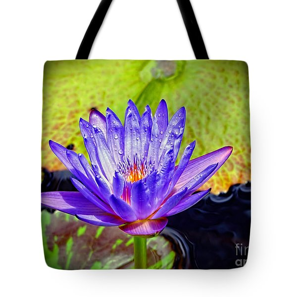 Hawaiian Water Lily Tote Bag by Sue Melvin