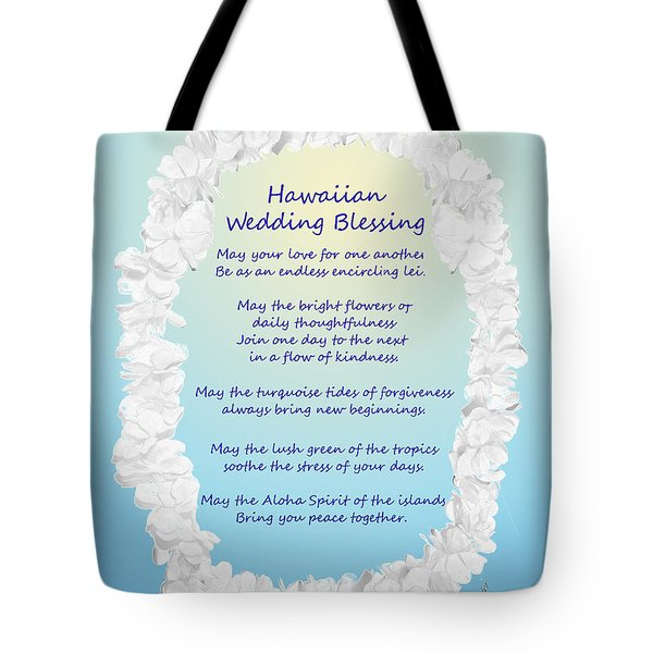 Hawaiian Wedding Blessing Tote Bag