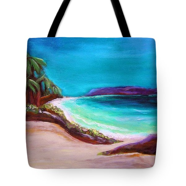 Tote Bag featuring the painting Hawaiin Blue by Patricia Piffath