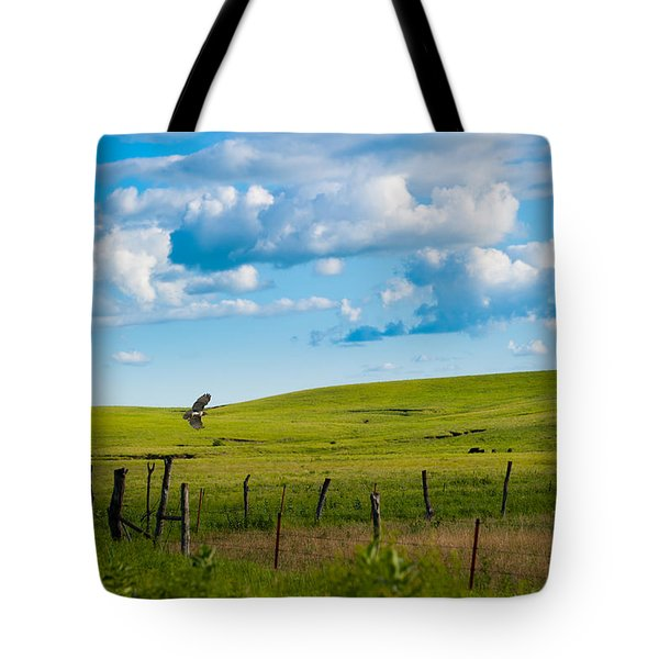 Hawk And Flint Hills Tote Bag