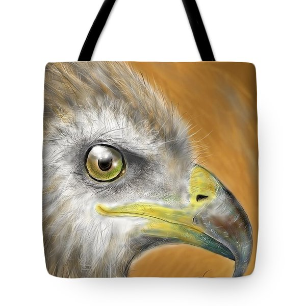 Tote Bag featuring the digital art Hawk by Darren Cannell