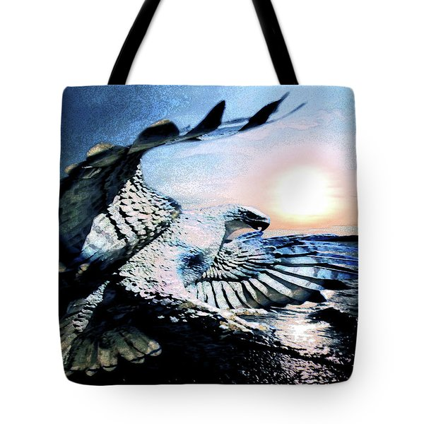 Tote Bag featuring the photograph Hawk Heaven by Eddie Eastwood