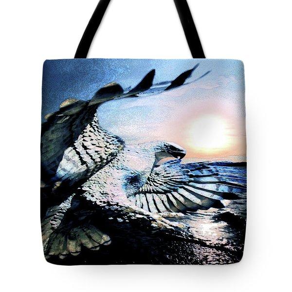 Hawk Heaven Tote Bag by Eddie Eastwood