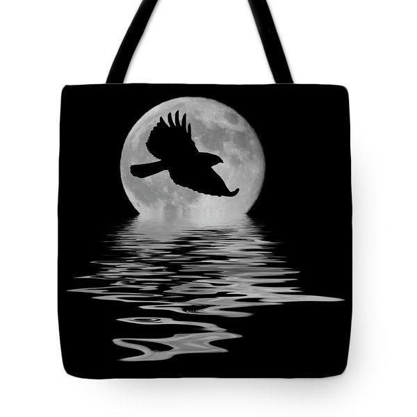 Hawk In The Moonlight Tote Bag