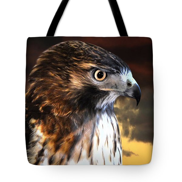 Hawk Sunset Tote Bag
