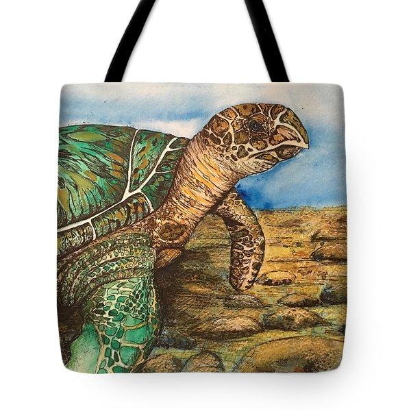 Hawkbilled Sea Turtle Tote Bag