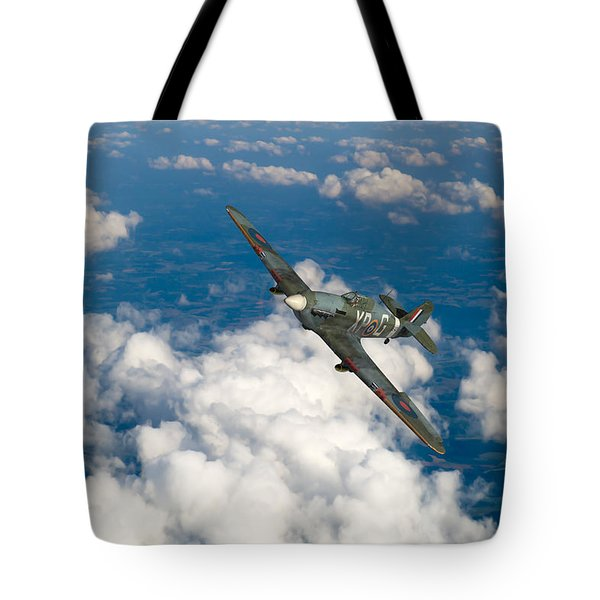 Tote Bag featuring the photograph Hawker Hurricane IIb Of 174 Squadron by Gary Eason