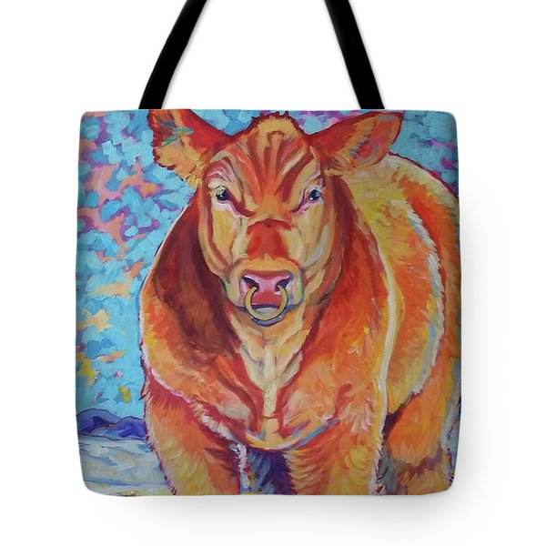 Tote Bag featuring the painting Hawkeye by Jenn Cunningham