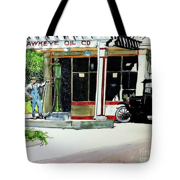 Hawkeye Oil Co Tote Bag