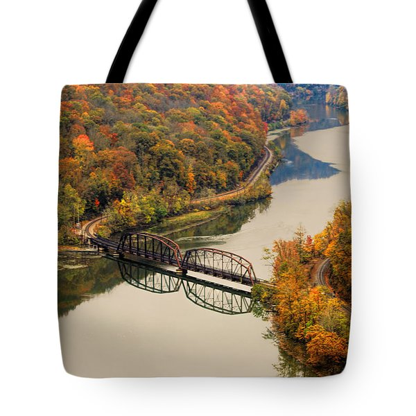 Tote Bag featuring the photograph Hawks Nest State Park by Ola Allen