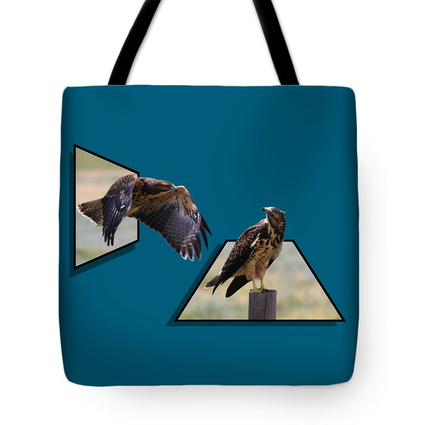 Hawks Tote Bag by Shane Bechler